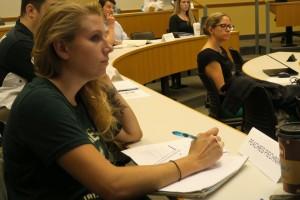 Moore alumni participating in the ROI program at Wharton.
