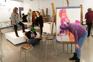 Art Students at Easels