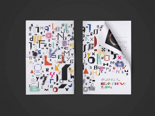 Two sheets of expressive typography by Kyla Irizarry