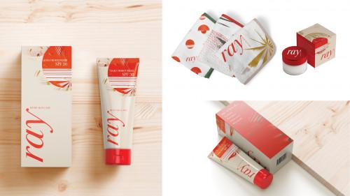 Mockup designs of skincare packaging by Wilder Francone