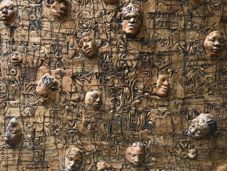 Photo of John Costanza's Black Lives Matter wooden mural