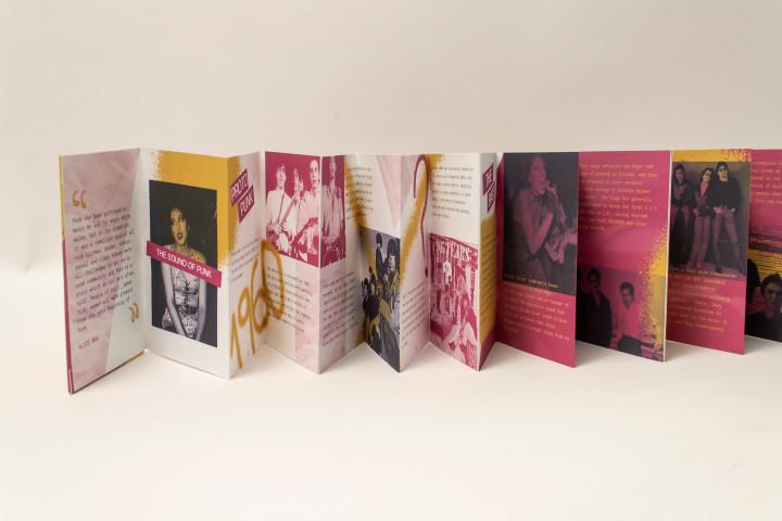 Annais Delgado Latinx Punk Accordion Zine Collection, 2020, Digital Layouts printed on Premium Matte Paper