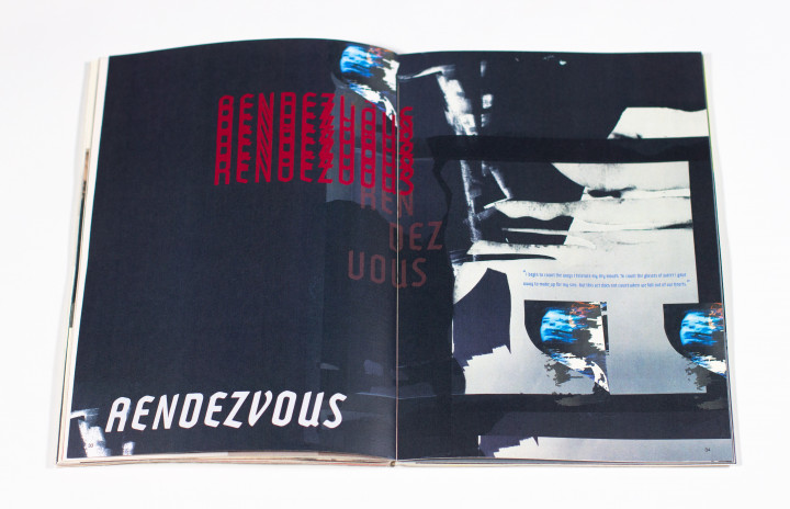 Photo of a spread from Christina Faas '21's thesis publication