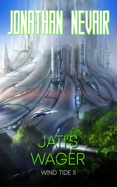 ebook cover for Jonathan Nevair's Jati's Wager designed by Jessica Moon. Art by Zishan Liu
